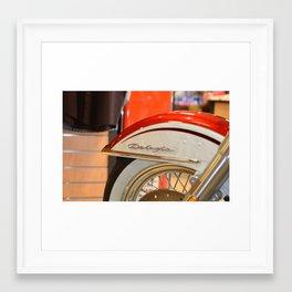 Harley Davidson Deluxe 1955 Framed Art Print