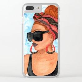 Bold N Beautiful Clear iPhone Case