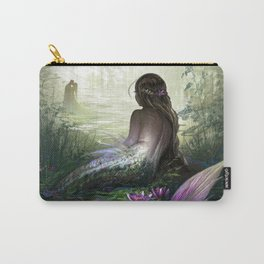 Little mermaid - Lonley siren watching kissing couple Carry-All Pouch