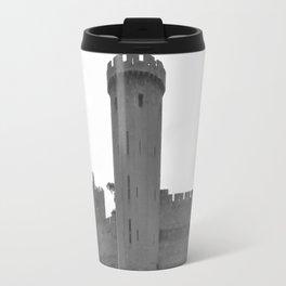 Black and white English Castle Travel Mug