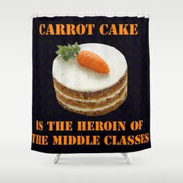 Carrot Cake Shower Curtain