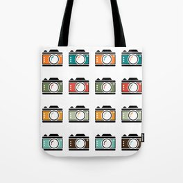 Colourful Camera Icons Tote Bag