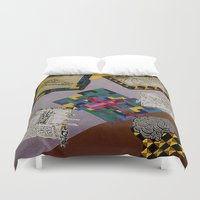 da vinci Duvet Covers featuring Tribute to Leonardo da Vinci by Art By Carob