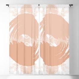 Ying Yang - Modern Batik Collage Beige Blackout Curtain