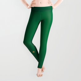 Green And Gold Background Leggings