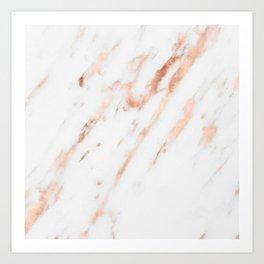 Pink Quartz Marble Rose Gold White Kunstdrucke