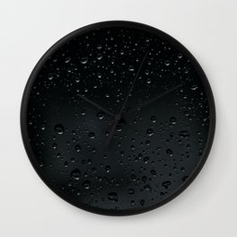 Rain Black Wall Clock
