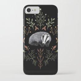 Botanical Badger iPhone Case