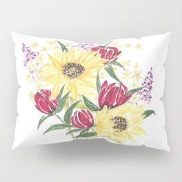'Manchester' Floral Watercolor Artwork -- BiotaDrawings Pillow Sham