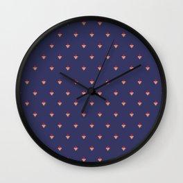 Delicate Diamonds Wall Clock