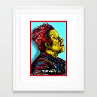 tom waits Framed Art Prints featuring Tom Waits by Alec Goss