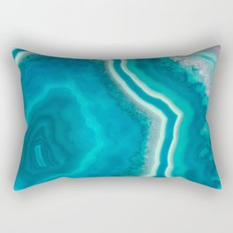 Frozen heart agate Rectangular Pillow