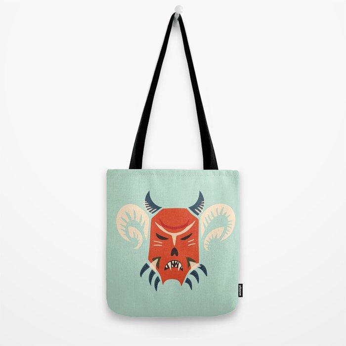 Kuker Evil Monster Mask Tote Bag