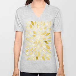 Watercolor brush strokes - yellow Unisex V-Neck