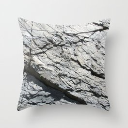 Strates géologiques / Geological strata Throw Pillow