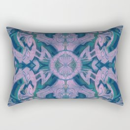 Summer Twilight, abstract arabesque in blue and violet Rectangular Pillow