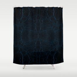 Dark blue leather texture abstract Shower Curtain