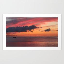 Tiny Sunset Art Print