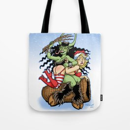 Krampus Spanking Tote Bag