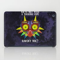 majoras mask iPad Cases featuring Majora's Mask Splatter (Quote) by Greytel