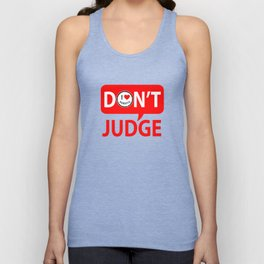 Don't Judge I heart Robots Unisex Tank Top
