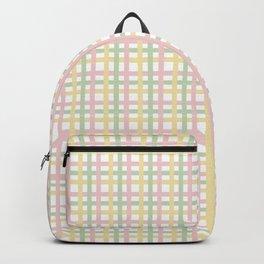 Pastel Color Gingham Tartan Seamless Pattern Backpack