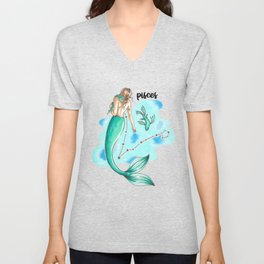 Pisces Mermaid Unisex V-Neck