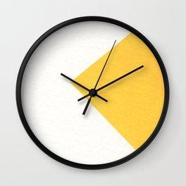 White / Yellow Wall Clock
