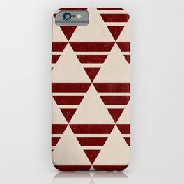 Maroon Pattern iPhone Case