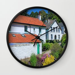 Caldey Island Village.Wales. Wall Clock
