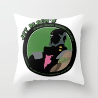 cowboy bebop Throw Pillows featuring Bebop Jet by AngoldArts