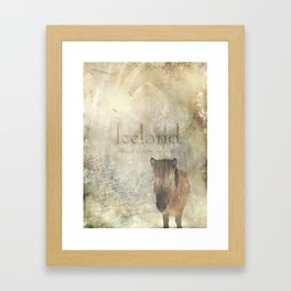 Iceland, forged by fire and ice Framed Art Print