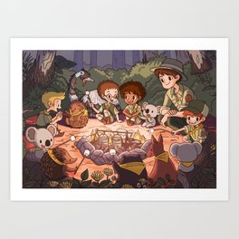 Cub Scout Campfire Art Print
