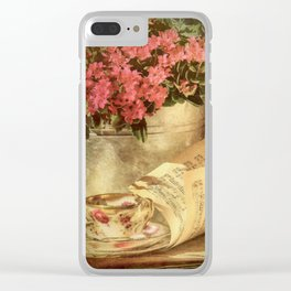 Whispering Breeze Clear iPhone Case