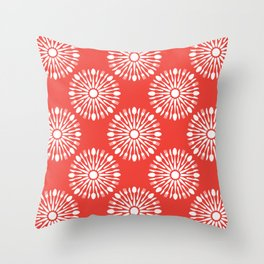 Kitchen cutlery red Throw Pillow
