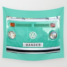 Wander van. Summer dreams. Green Wall Tapestry