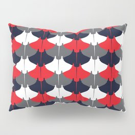 Manta Ray Pattern (Blue and Red) Pillow Sham