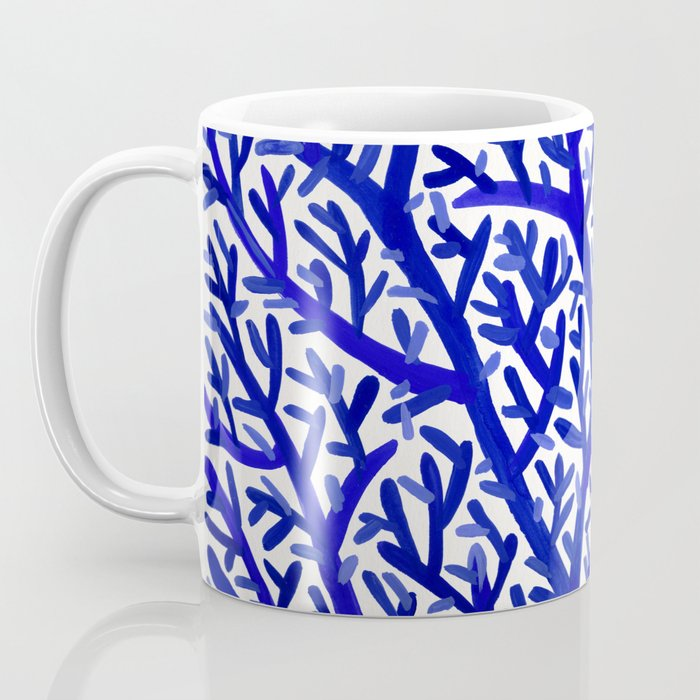 Fan Coral – Navy Coffee Mug