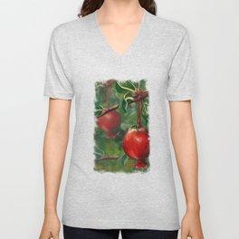 Tudor Pomegranate Tree Unisex V-Neck