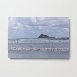 Five Surfers Muriwai Metal Print