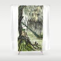 yoda Shower Curtains featuring Yoda by Lydia Joy Palmer