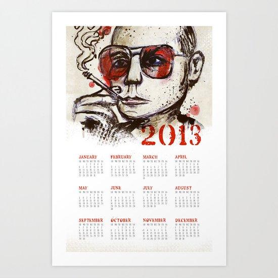 Hunter S. Thompson 2013 Calendar Art Print