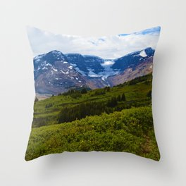 View along the Wilcox Pass Hike in Jasper National Park, Canada Throw Pillow