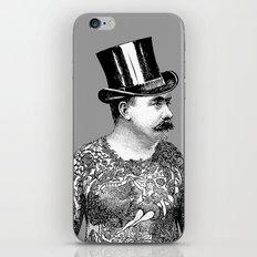Tattooed Victorian Man iPhone & iPod Skin