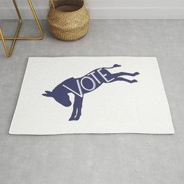 Vote Democrat Party Blue Donkey Rug