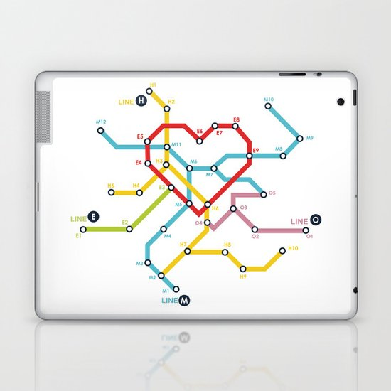 Home Where The Heart Is Laptop & iPad Skin
