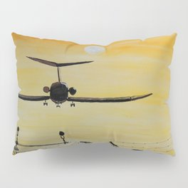 Yellow last flight Pillow Sham