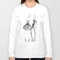 converse Long Sleeve T-shirts featuring Double Converse by Sarah Lewis Designs