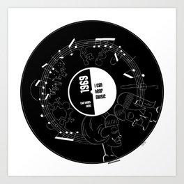 I can hear music Art Print