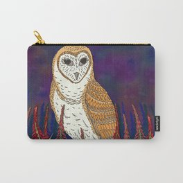 Barn Owl and Fireweed Carry-All Pouch
